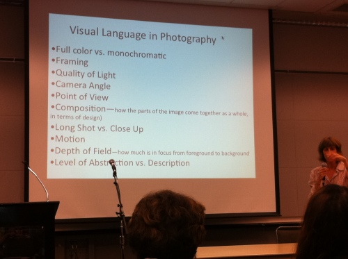 Visual language in photography